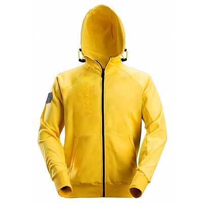 Snickers Logo Hoodie met Rits Yellow (BF2880 YELLOW)